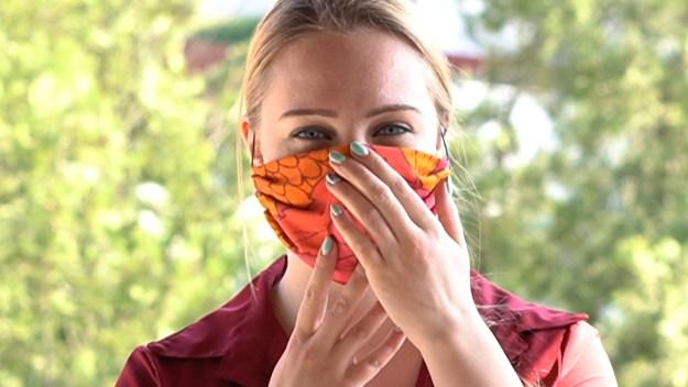 homemade face mask DIY step 6