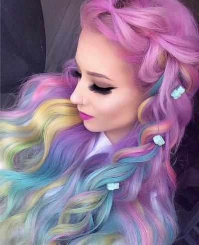 unicorn themed hair style