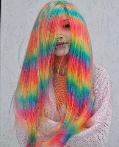 alternative holographic hair