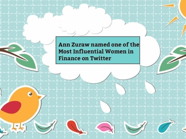 Ann Zuraw named one of the Most Influential Women in Finance on Twitter