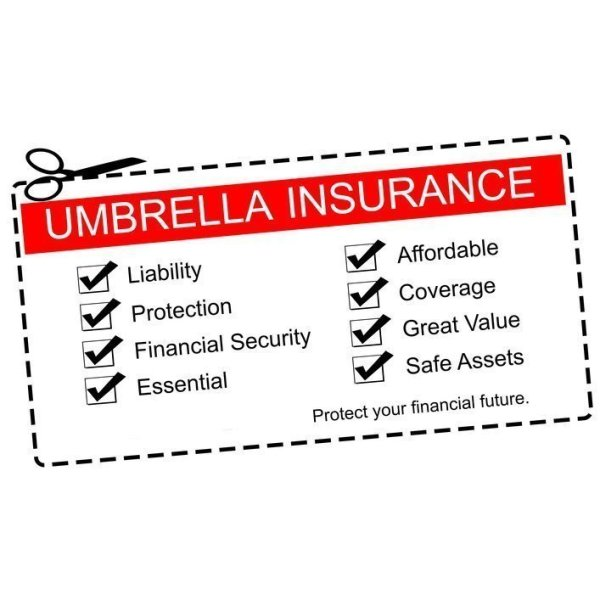 Umbrella Insurance Coupon Concept