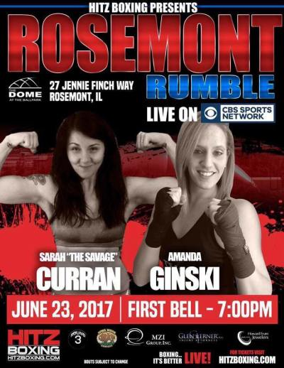 Sarah French-Curran and Amanda Ginski to Rumble in Rosemont on June 23rd