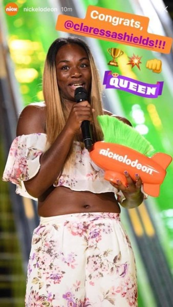 Claressa Shields Wins Nickelodeons Kids' Choice Awards Biggest Powerhouse Honor