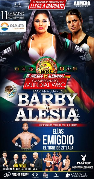 November 11: Mariana Juarez to Defend her WBC Bantamweight Championship Against Alesia Graf