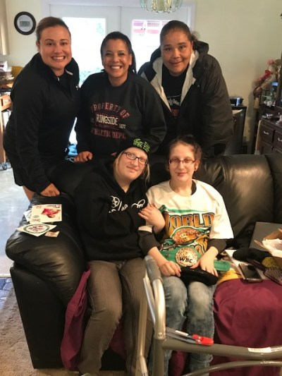 WBC Cares and Beautiful Brawlers Bring Twin Sisters Some Much Needed Smiles and Support