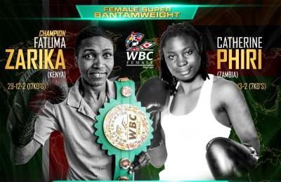 WBC Champion Fatuma Zarika Prepared for Challenge by Former Champ Catherine Phiri