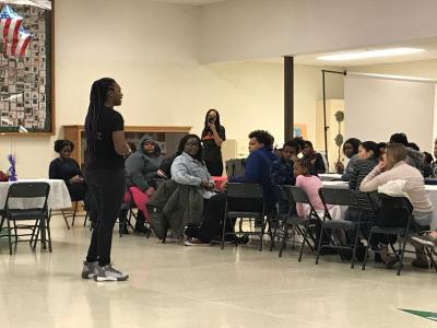 """Claressa Shields Motivating Youth to """"… work hard to reach the goal"""""""
