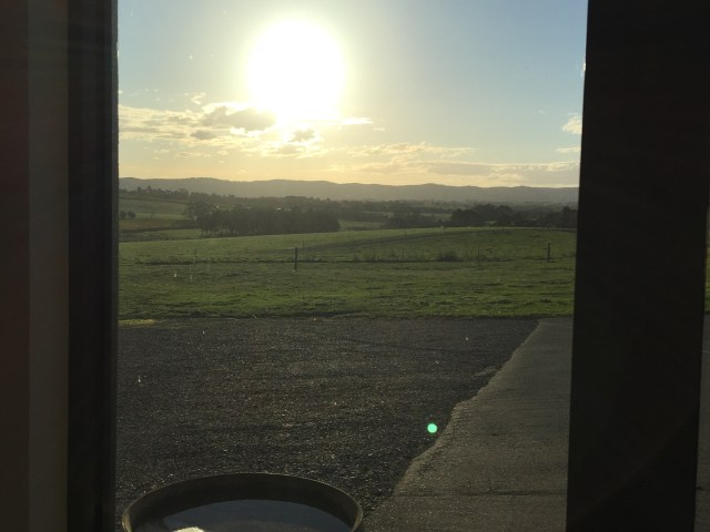 Postcard sunset from Cellar Door