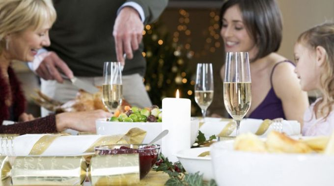 A Family Sitting Down For Christmas Dinner.four People, Mature Adult Man, Mature Adult Woman, Mid Adult Woman, 60-70 Years Old, 60s, 30s, 30-40 Years Old, Elementary, Age, Child, Children, Kids, 6-7, Years, Girl, Girls, Father, Daughter, In, Law, Granddaughter, Grandchild, Grandfather, Grandmother, Grandad, Grandma, Mother, Caucasian, Family, Lifestyle, Christmas, Day, December, 25th, Noel, Celebrate, Celebration, Celebrating, Dress, Traditional, Festive, Hair, Short, Blonde, Stand, Standing, Sit, Sitting, Smile, Smiling, Happy, Happiness, Love, Two People, Loving, Close, Tender, Tenderness, Home, Joy, Delight, Drink, Drinks, Drinking, Alcohol, Champagne, Fizz, Sparkle, Glass, Glasses, Flute, Flutes, Roast, Turkey, Bird, Dinner, Table, Food, Nutrition, Carves, Carving, Carved, Meat, Vegetables, Plates, Anticipation, Anticipate, Enjoy, Enjoying, Enjoyment, Serves, Serving, Serve, Portion, Tree, Lights, Bauble, Baubles, Decorated, Decorations, Excite, Excited, Excitement, Plenty, Xmas, Seasonal, Season *** Local Caption *** Four People, Mature Adult Man, Mature Adult Woman, Mid Adult Woman, 60-70 Years Old, 60s, 30s, 30-40 Years Old, Elementary, Age, Child, Children, Kids, 6-7, Years, Girl, Girls, Father, Daughter, In, Law, Granddaughter, Grandchild, Grandfather, Grandmother, Grandad, Grandma, Mother, Caucasian, Family, Lifestyle, Christmas, Day, December, 25th, Noel, Celebrate, Celebration, Celebrating, Dress, Traditional, Festive, Hair, Short, Blonde, Stand, Standing, Sit, Sitting, Smile, Smiling, Happy, Happiness, Love, Two People, Loving, Close, Tender, Tenderness, Home, Joy, Delight, Drink, Drinks, Drinking, Alcohol, Champagne, Fizz, Sparkle, Glass, Glasses, Flute, Flutes, Roast, Turkey, Bird, Dinner, Table, Food, Nutrition, Carves, Carving, Carved, Meat, Vegetables, Plates, Anticipation, Anticipate, Enjoy, Enjoying, Enjoyment, Serves, Serving, Serve, Portion, Tree, Lights, Bauble, Baubles, Decorated, Decorations, Excite, Excited, Excitement, Plenty, Xmas, Seaso