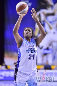 Shanice McKinney is a newcomer at Samsung. She will play until Alyssa Thomas is able to return from injury.