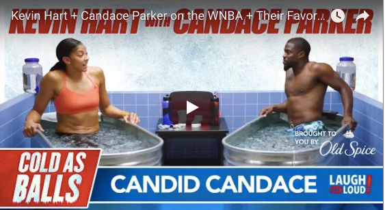 Cold As Balls with Candace Parker and Kevin Hart! Hilarious!