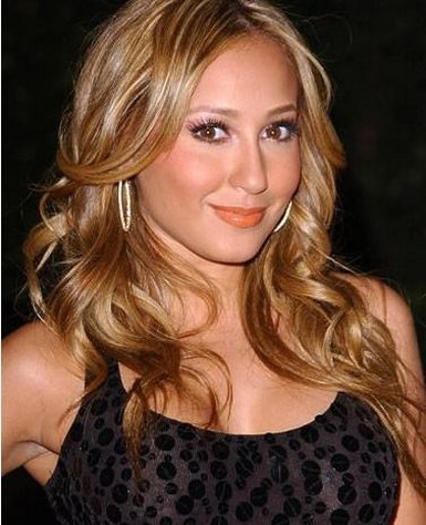 Adrienne Bailon With Very Sexy Hairstyle With Long Length