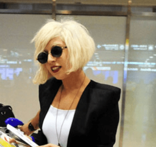 Lady Gaga Normal Look With Cute Bob HairstylePNG