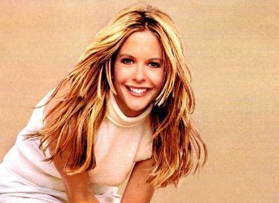Photo Of Meg Ryan With Long Hair With Layers And Long Bang