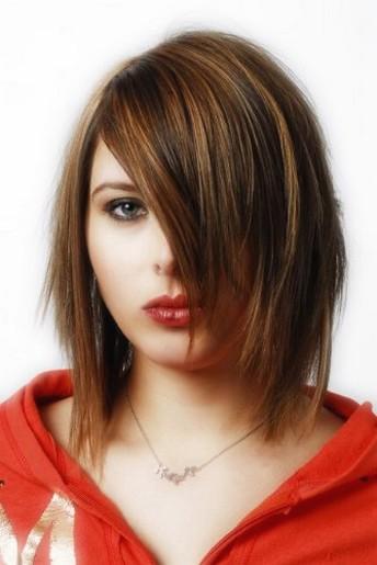 Medium Haircut With Long Side Bang