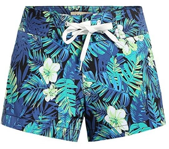 9dbe047c2e SSLR Women's Quick Dry Tropical Casual Hawaiian Beach Board Shorts