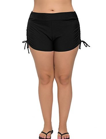 92e2d31909 ATTRACO Women's Plus Size Swim Shorts Solid Swim Bottom Beach Swim Board  Shorts