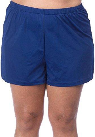 "0d9ad09e2e1 Maxine Of Hollywood Women's Plus-Size 2"" Loose Fit Mid Rise Swim Shorts"