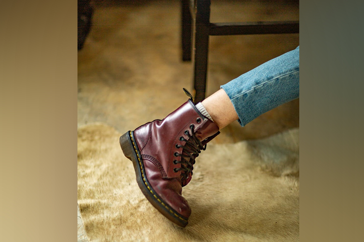 cap toe leather boots