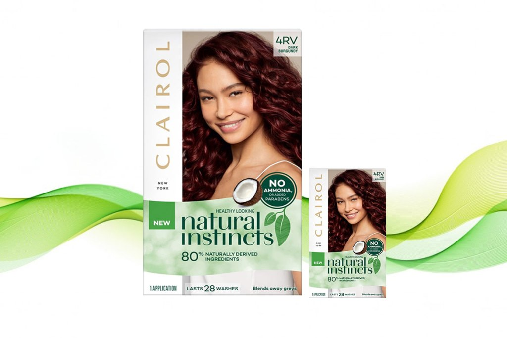 Clairol Natural Instincts Non-Permanent Hair Color Burgundy Brown
