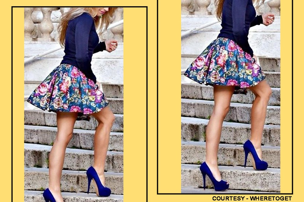 starry-print-skater-skirt-with-royal-blue-cossack-top