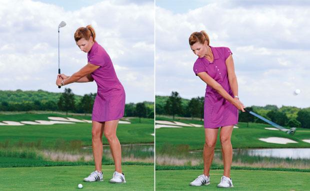 Focus on the Back of the Ball via @womensgolfcom
