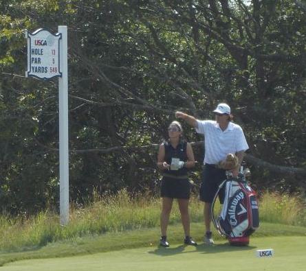 Caddy for a LPGA player Rachel Rohanna
