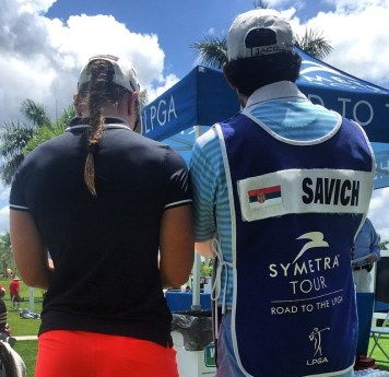 caddying on the Symetra tour