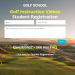 student registration - golf school