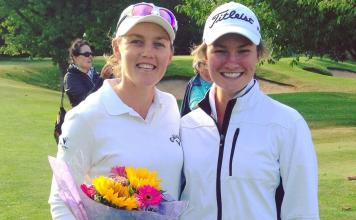 Stacey Keating and Amy Walsh Womens Golf