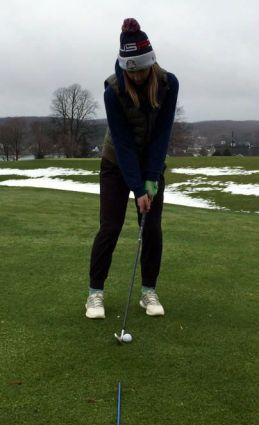Grace Kelbel Ratio Chipping Setup how to chip in golf womens golf