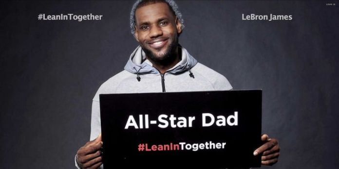 Lebron getting behind the Lean In campaign