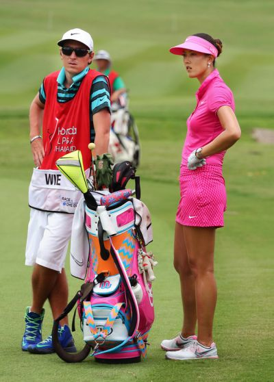 Michelle Wie wating slow play womens golf