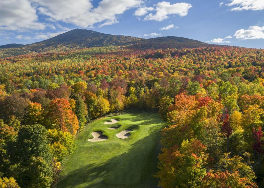 6th hole at Sugarloaf Golf Club Maine - Evan Schiller