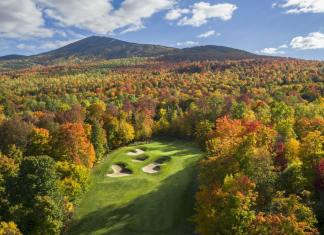 6th hole at Sugarloaf Golf Club Maine - Evan Schiller