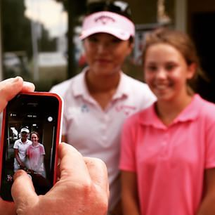 LPGA fan selfie with Lydia Ko