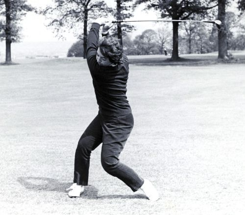 Catherine Lacoste - With an open clubface at the top of the swing at the 1964 World Team Championship