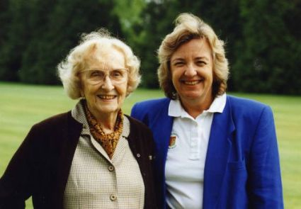Catherine Lacoste with her mother, the only mother and daughter to both have won the British Ladies Championship