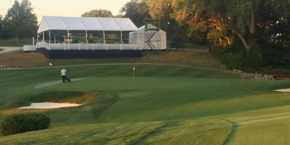 0th green Des Moines Golf and Country Club - Photo: Rick Tegtmeier