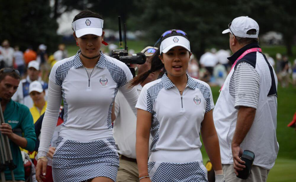 Best friends and partners at the Solheim Cup, Michelle Wie and Danielle Kang