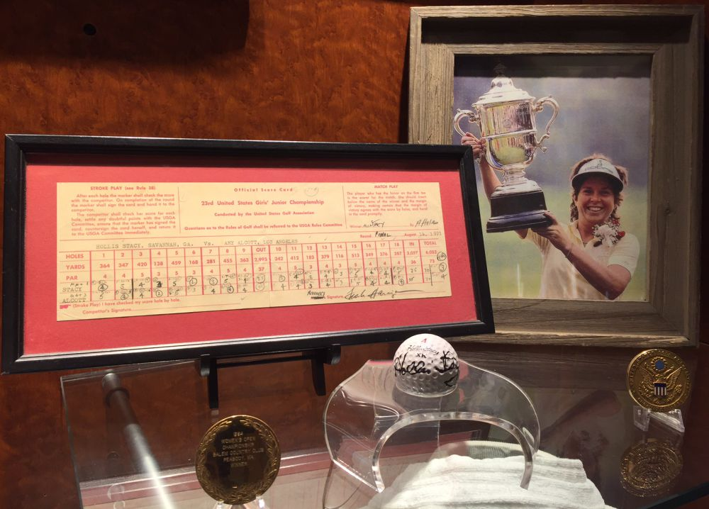 Scorecard at the World Golf Hall of Fame Hollis Stacy and Amy Alcott Womens Golf article
