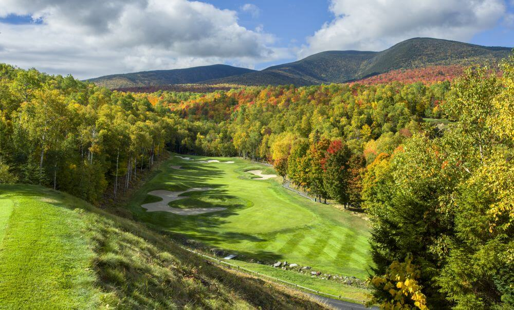 The par-5 10th hole at Sugarloaf Golf Club in Maine - Evan Schiller