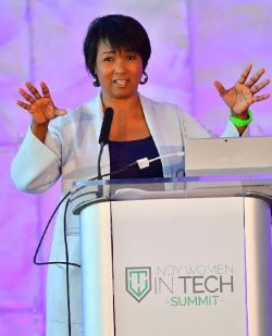 Keynote speaker, Dr. Mae Jemison, the first African American women in space and Founder and President of the Jemison Group and BioSentient Corp