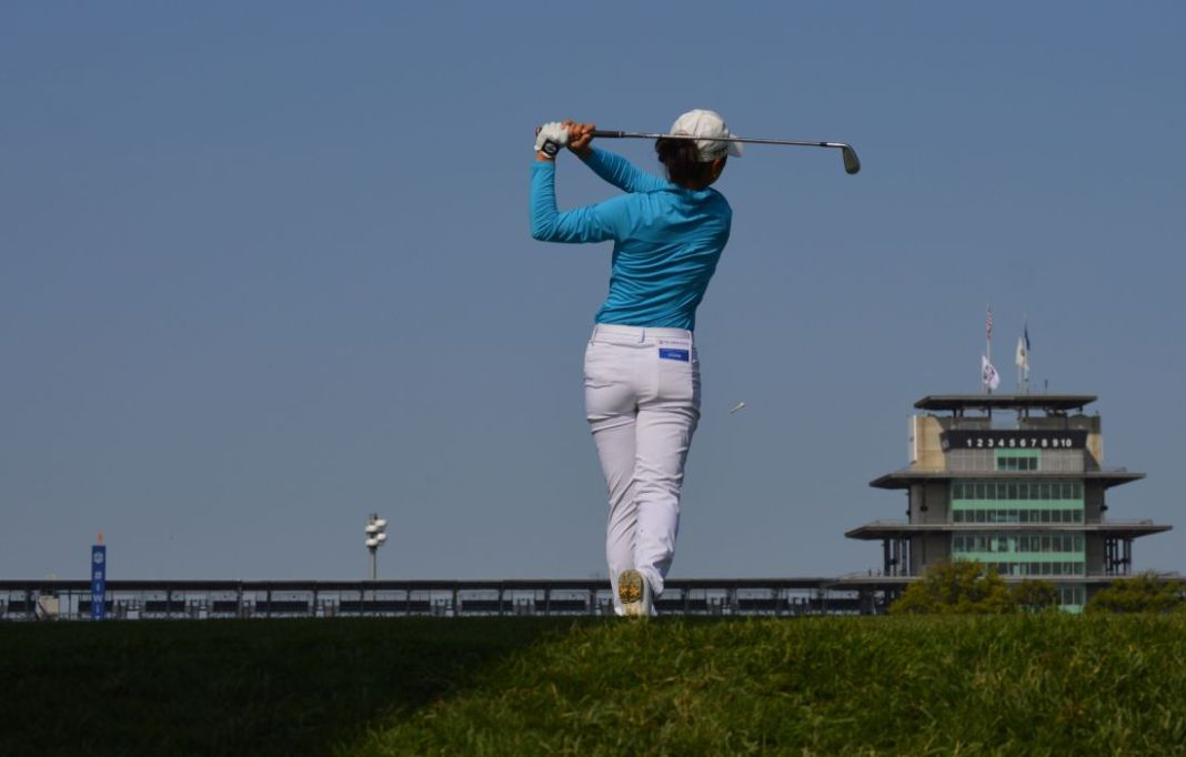 Kelly Shon Importance of the follow through womens golf photo Ben Harpring