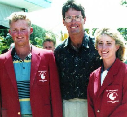 Marcus Cain Ian Baker-Finch Karrie Web 1991 Greg Norman Junior Masters - womens golf