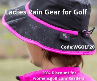 Ladies Rain Gear for Golf - 20 percent discout
