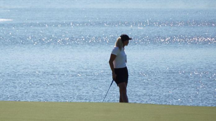 Suzann Pettersen takes in the scenery womensgolf.com LPGA