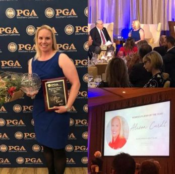 In December 2017 Alison Curdt was awarded the SCPGA Women's Player of the Year.
