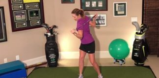 Karen Palacios Jansen - shoulder pivot drill for womensgolf.com