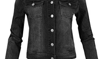 1735daae68f Awesome21 Women's Casual Soft Shell Stretch Detachable Hoodie Denim Jacket